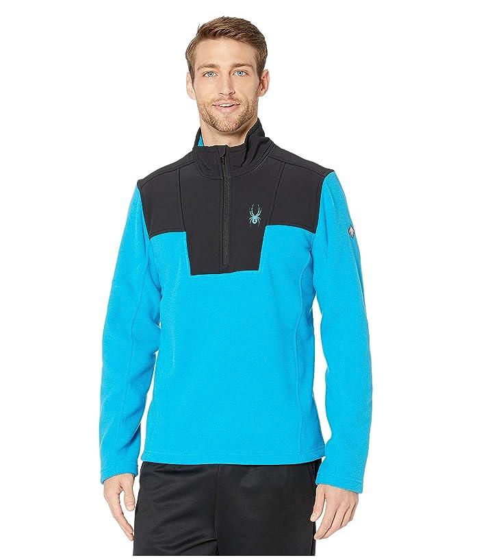 Basin 1/2 Zip Fleece Jacket (Lagoon) Men's Coat