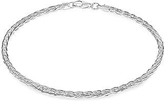 Tuscany 纯银钻石切割 Spiga 手链 18 厘米/7 英寸