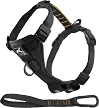 Kurgo Tru-Fit No Pull Dog Harness and Easy Dog Walking Harness with Pet Seatbelt Tether for Car, Black, Medium