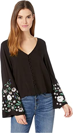 Edita Embroidered Sleeve Top