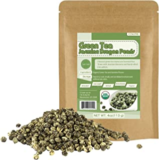 Organic Jasmine Dragon Pearls Green Tea Loose Leaf 4oz