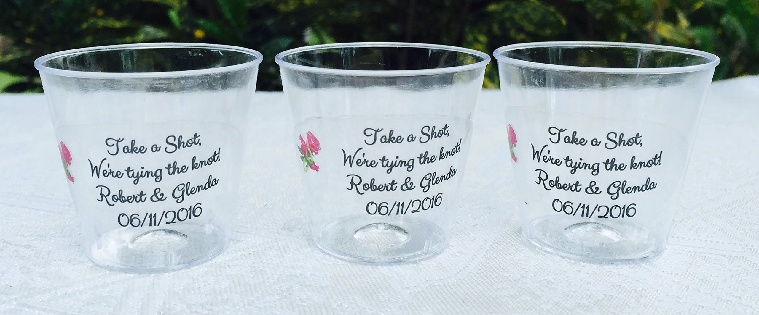 Custom Cups Love Laughter and Happily Ever After Color Changing Cups Wedding Cups Wedding Favors 1456 Mood Cups Monogrammed Mood Cups