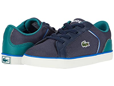 Lacoste Kids Lerond 220 1 (Toddler/Little Kid) (Navy/Green) Kid