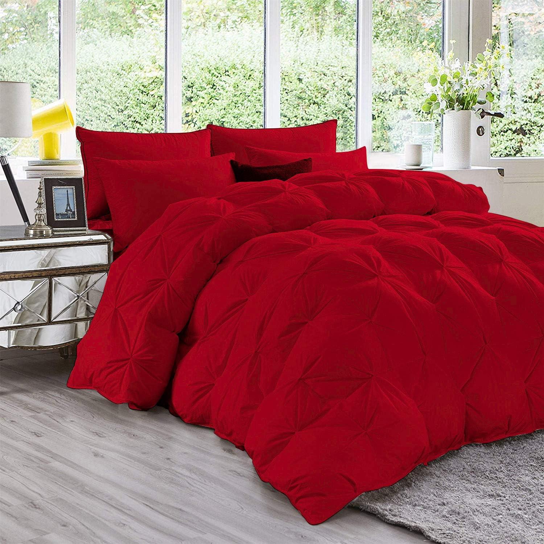At the price Long Beach Mall 1Sleep2Sheep 3 Piece Luxury Pinch Pleated Premium Set Comforter