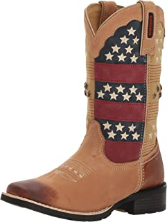 Durango Women's DRD0191 Western Boot, tan/patriotic, 7.5 M US