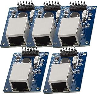 AZDelivery 5 x ENC28J60 Ethernet LAN Modulo de Red para Arduino con eBook incluido
