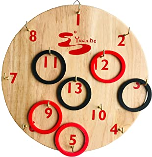 Hookey Ring Toss Game - Safer Than Darts, Just Hang it on a Wall and Start Playing. Fun Outdoor/Indoor Games for Family. Beautifully Finished and Easy to Set-Up, All ages, Anyone can play