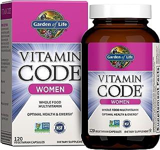Garden of Life Multivitamin for Women, Vitamin Code Women's Multi - 120 Capsules, Whole Food...