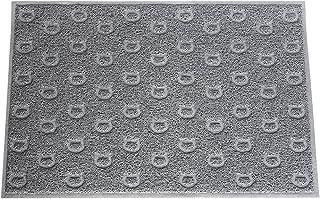 "Pet Champion 35"" Cat Face Pattern Litter Mat, Gray, Large, Model:PTCTPVCLM"