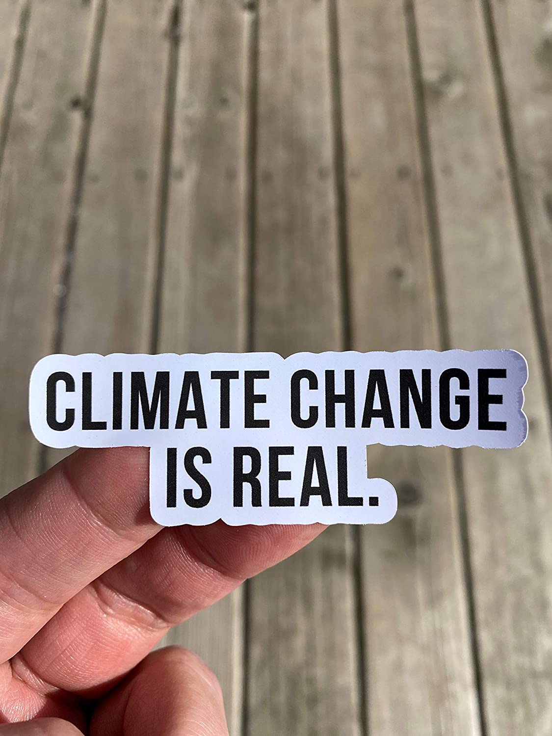 Climate Change Is Real Sticker Denver Mall Water Bottle Translated Laptop Sti