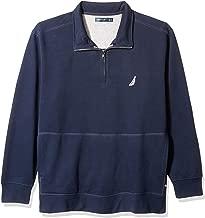Nautica Men's Big and Tall Basic Long Sleeve 1/4 Zip Fleece Sweatshirt