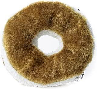 Copa Judaica Chewish Treat 6-Inch Diameter Bagel Cream Cheese Squeaker Plush Dog Toy, Large