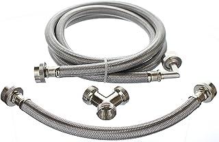 Premium Steam Dryer Installation Kit - Stainless Steel Hoses, 6 Foot