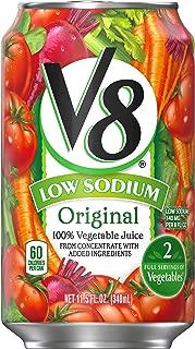V8 Original Low Sodium 100% Vegetable Juice, 11.5 oz. Can