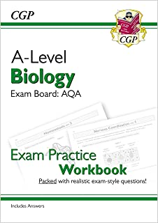 A-Level Biology: AQA Year 1 & 2 Exam Practice Workbook - includes Answers