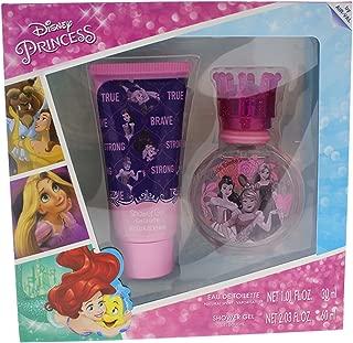 Disney Princess for Kids 2 Piece Gift Set with Eau de Toilette Spray & Shower Gel, 2 Count