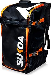 Ski Boot Bag Backpack 50L - Snowboard & Ski Boots, Helmet Travel Bag for Flying Air Travel - Ergonomic Skiing Gear Accesso...