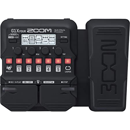 Zoom G1X FOUR Guitar Multi-Effects Processor with Expression Pedal, With 70+ Built-in Effects, Amp Modeling, Looper, Rhythm Section, Tuner, Battery Powered