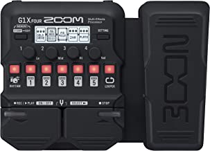 Zoom G1X FOUR Guitar Multi-Effects Processor with Expression Pedal, With 70+ Built-in Effects, Amp Modeling, Looper, Rhyth...
