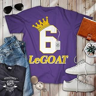 LeGOAT James No.6 LA Basketball King Player Jersey Customized Handmade T-Shirt Hoodie/Long Sleeve/Tank Top/Sweatshirt