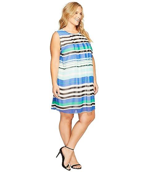 Line A Klein Calvin Plus Dress Plus Size Printed XP8YxP