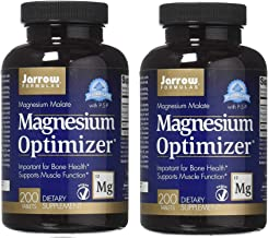 Jarrow Formulas Magnesium Optimizer Up Formulated with Magnesium Malate and P-5-P for Optimal Bone Health and Muscle Funct...
