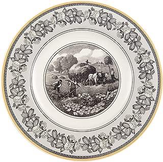Villeroy & Boch 10-1067-2610 Audun Ferme Dinner Plate, 10.5 in, White/Gray/Yellow