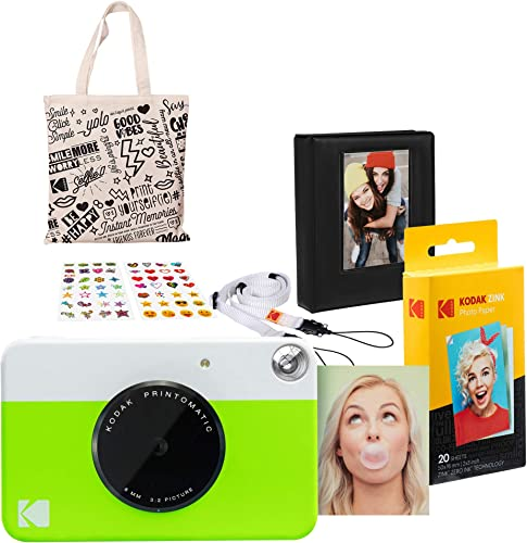 2021 Kodak online sale PRINTOMATIC lowest Instant Print Camera Gift Bundle outlet online sale