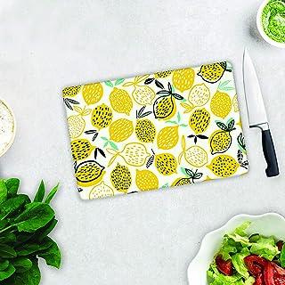 Sarı Limonlar | Cam Kesme Tahtası (29cm x 34cm)