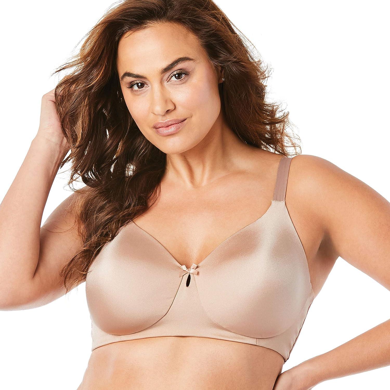 Comfort Choice Women's Plus Size Back-Smoothing Wireless T-Shirt Bra
