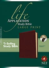 NLT Life Application Study Bible, Second Edition, Large Print (Red Letter, LeatherLike, Brown, Indexed)