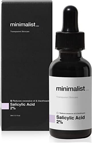 Minimalist 2% Salicylic Acid Serum For Acne, Blackheads & Open Pores | Reduces Excess Oil & Bumpy Texture | BHA Based...