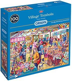 Village Tombola 1000 Piece Jigsaw Puzzle   Sustainable Puzzle for Adults   Premium 100% Recycled Board   Great Gift for Ad...