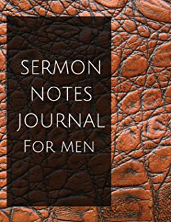 Sermon notes journal for men: Sermon notes journal for men With Calendar 2018-2019 ,Daily Guide for prayer, praise and scripture Workbook : size ... In USA (sermon notes organizer) (Volume 1)