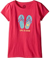Life is Good Kids - Sunshine Flip Flops Tee (Little Kids/Big Kids)
