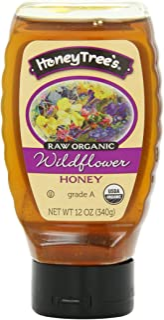 Honey Tree Raw Organic Honey, Wildflower, 12 Ounce