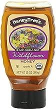 HoneyTree's Raw Organic Honey, Wildflower, 12 Ounce