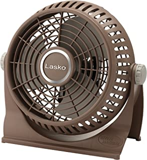 Lasko 505 Small Desk Fan with10-Inch Pivoting Head, Portable Electric Plug-In Table Fan Creates a Quiet Personal Cooling Breeze, Ideal for Travel, Bedroom, Dorm, and Office – Bronze