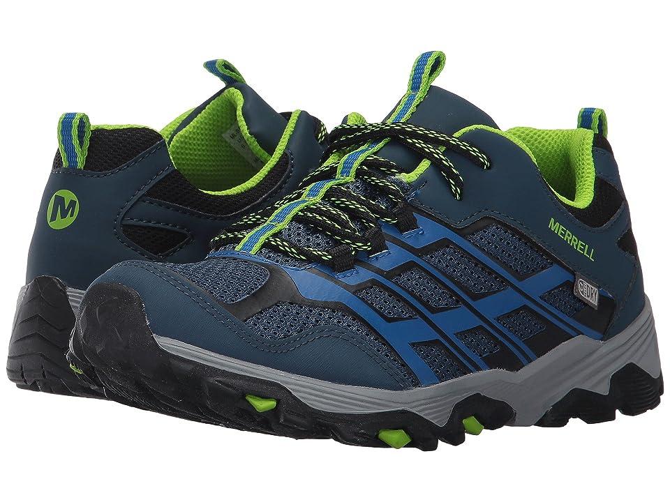 Merrell Kids Moab FST Low Waterproof (Big Kid) (Navy/Blue) Boys Shoes