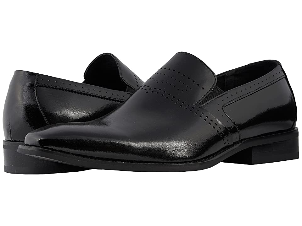 Stacy Adams Saunders Plain Toe Loafer (Black) Men