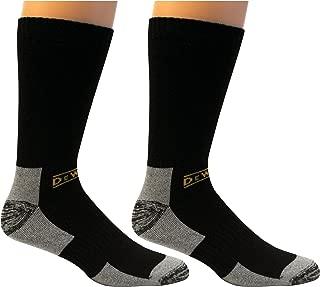 DEWALT Men's 2 Pack Full Cushion Steel-Toe Cotton Work Boot Crew Socks