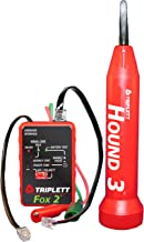 Triplett Fox & Hound Premium Tone and Probe Wire Tracing Kit Generates Multiple Tones with Adjustable Sensitivity for Electrical Wire, LAN Cable, Telephone, and More (3399)