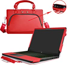 Pavilion 15 Case,2 in 1 Accurately Designed Protective PU Cover+Portable Carrying Bag for 15.6