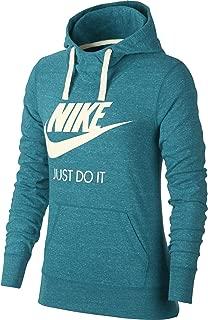 Nike Women's Sportswear Gym Vintage Hoodie, Spirit Teal/Sail, Size Medium