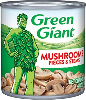Green Giant Mushrooms Pieces & Stems, 4 Ounce Can