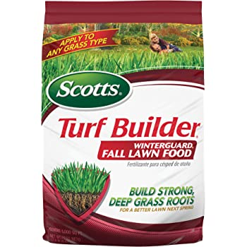 Scotts Turf Builder WinterGuard Fall Lawn Food, 12.5 Lb - Fall Lawn Fertilizer Builds Strong, Deep Grass Roots for a Better Lawn Next Spring - Covers 5,000 Sq Ft