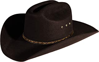 Enimay Western Cowboy & Cowgirl Hat Pinch Front Wide Brim Style
