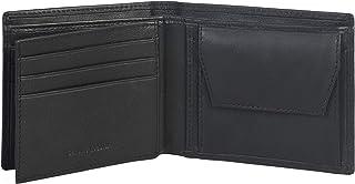 Amazon Brand - Eono Portafoglio in pelle per uomo e donna - design piatto con funzione di protezione lettura RFID (Pelle d...
