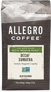 Allegro Coffee Decaf Sumatra Ground Coffee, 12 oz