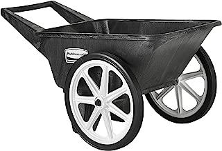 Rubbermaid Commercial Big Wheel Cart, 200 Pound Capacity, Black, FG565461BLA